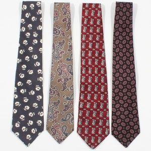 Bundle Of 4 Mens Neckties Formal Necktie Silk Ties